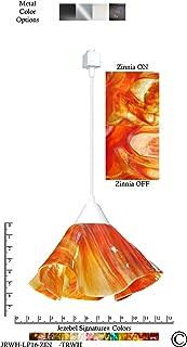 product image for Jezebel Signature Lily Track Lighting Pendant Large. Hardware: White. Glass: Zinnia