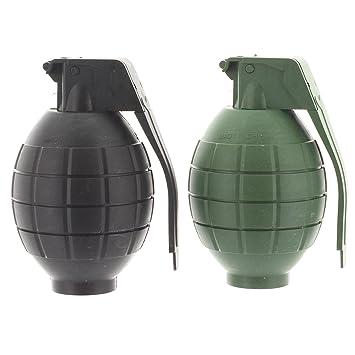 10cm granada de mano de juguete de plástico - con luces y sonido - vestido de lujo - cargas de la bolsa de fiesta