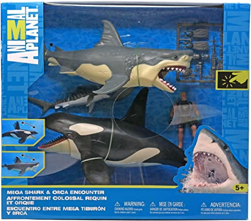 Great White Shark /& Killer Whale Playset Animal Planet