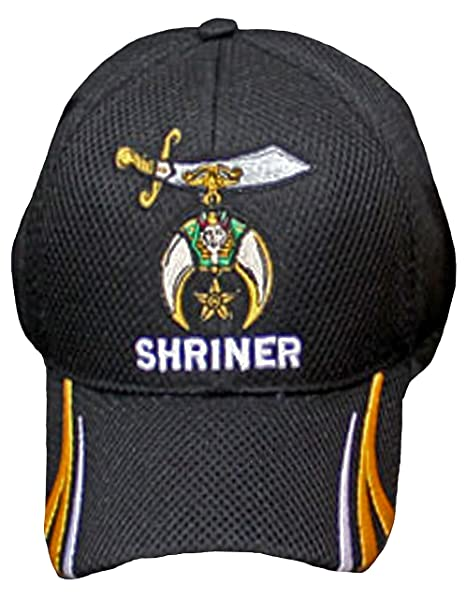 Image Unavailable. Image not available for. Color  Buy Caps and Hats  Shriner Hat Baseball Masonic Shriners Mens Black Baseball Cap Bumper Sticker a84a7a023bb5