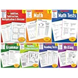 Scholastic Success With - Grade 4 Books Set (7 books): Addition&Subtraction&Multiplication&Division, Math, Math Tests, Gramma