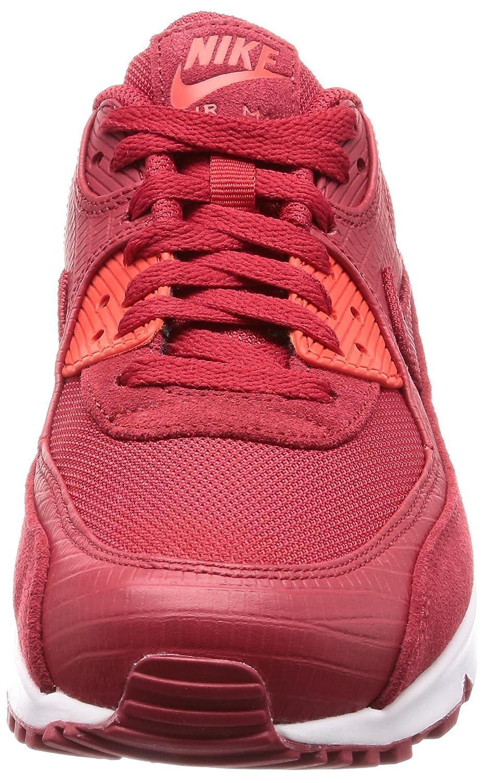 Nike Air Max 90 Premium Mens Shoes Gym RedGym RedWhite 700155 602