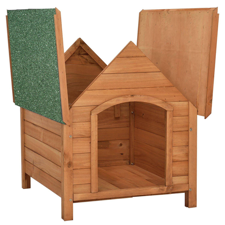 Caseta para perros «Rocky» con techo abatible y suelo elevado, 71 cm x 88 cm x 83 cm: Amazon.es: Productos para mascotas
