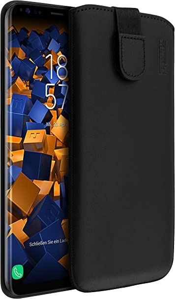 Mumbi Echt Ledertasche Kompatibel Mit Samsung Galaxy S8 Hülle Leder Tasche Case Wallet Schwarz Elektronik