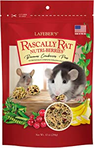 LAFEBER'S Rascally Rat Nutri-Berries Pet Rat Food, Made with Non-GMO and Human-Grade Ingredients