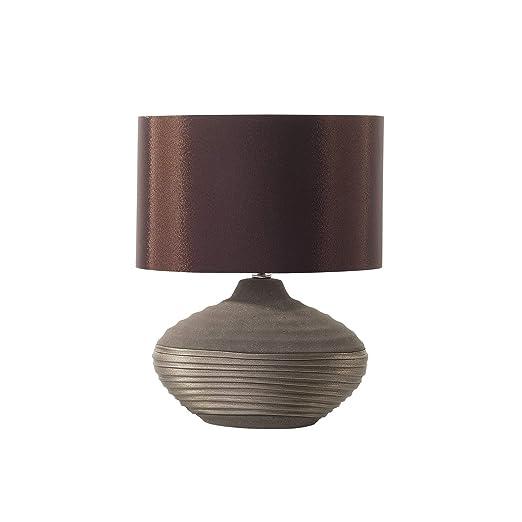 Lámpara de mesa - Pie de cerámica - Color marrón - LIMA ...