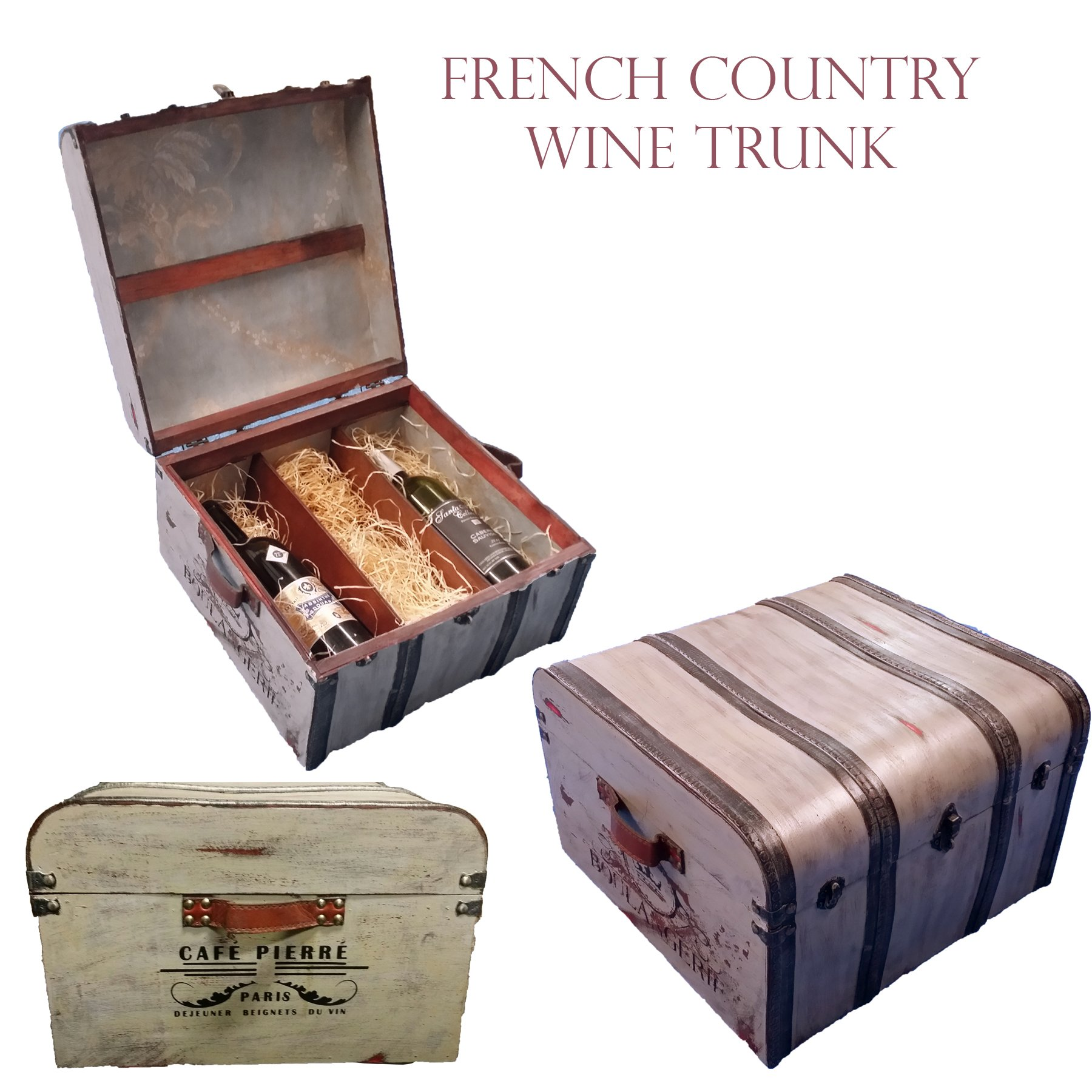 French Country Wine Trunk