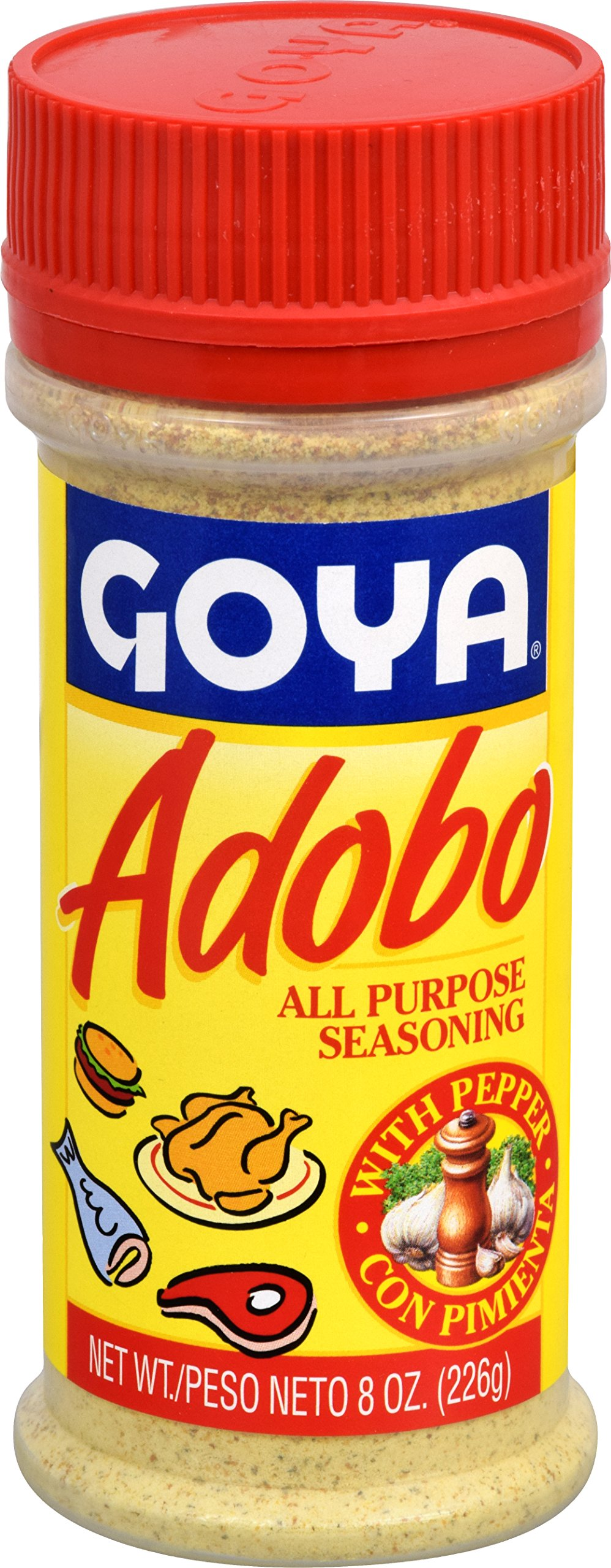 Goya Foods Adobo Seasoning with Pepper, 8-Ounce (Pack of 24)