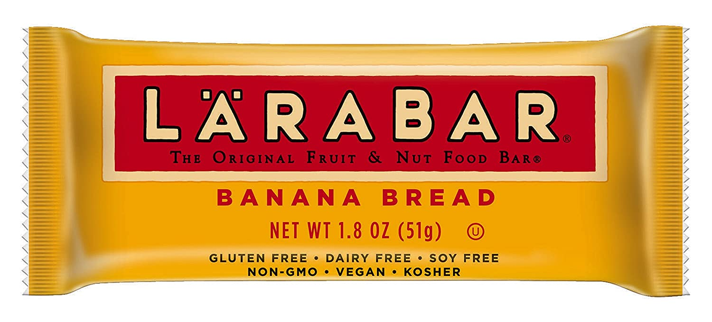 Larabar Gluten Free Bar, Banana Bread, 1.6 oz Bars (16 Count), Whole Food Gluten Free Bars, Dairy Free Snacks