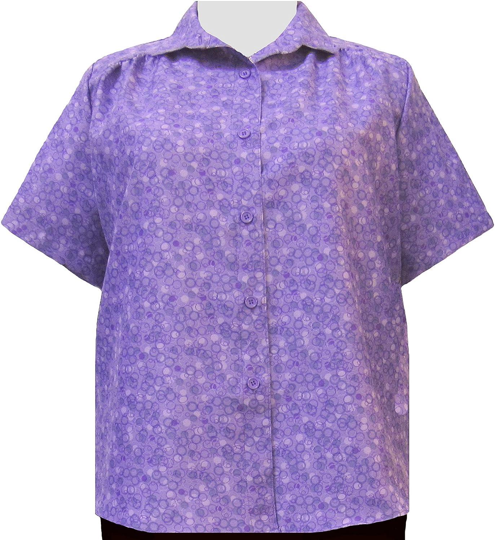 A Personal Touch Womens Plus Size Blouse Shirt Tail Hem Purple Le Cirque