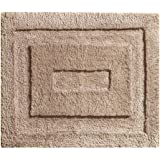 InterDesign Microfiber Spa Bathroom Accent Rug, 21 x 17, Linen