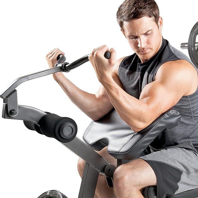 Marcy md857 Diamond Elite banco de pesas con accesorio de musculación - 270 kg carga de peso   - Banco de Pad   desarrollador de pierna: Amazon.es: Deportes ...