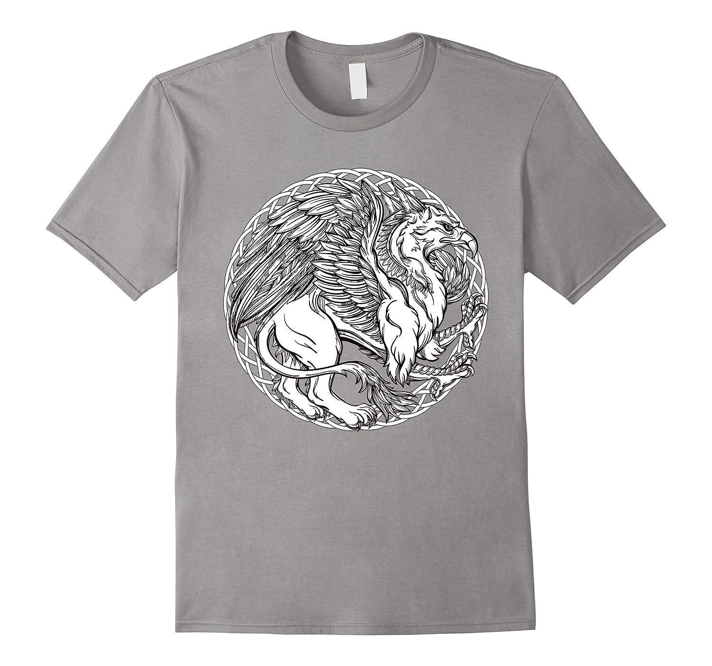 Color Me Celtic Griffin DIY Coloring T-shirt-RT