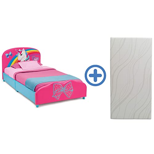 Delta Children Upholstered Twin Bed 6-Inch Memory Foam Twin Mattre