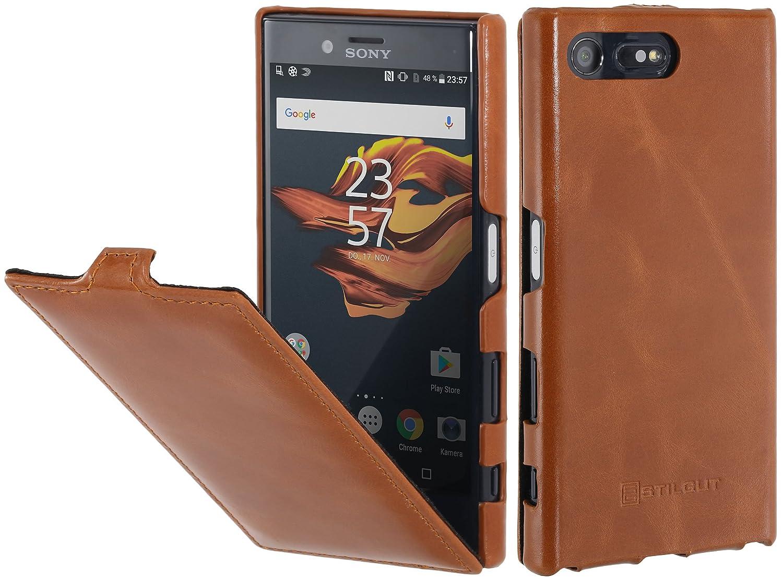 StilGut UltraSlim Case Hülle Leder-Tasche für: Amazon.de: Elektronik