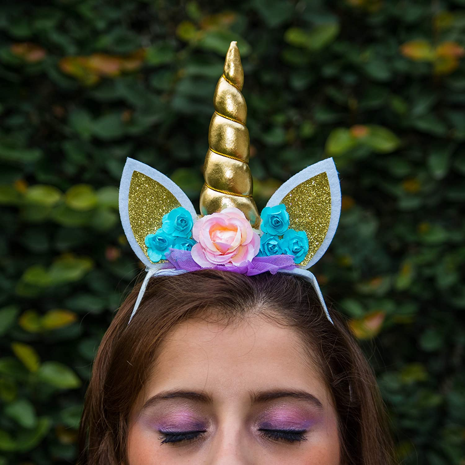 5 Padded Unicorn Horn UCH-040 Silver Iridescent Sequins
