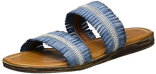 2-2-27114-28 636, Sandalias Mujer, Azul (Denim Comb 853), 37 EU Marco Tozzi
