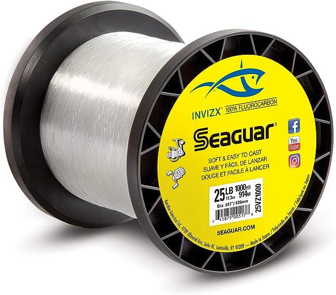 Best Fluorocarbon Lines  : SSeaguar Invizx 100% Fluorocarbon 1000 Yard Fishing Line