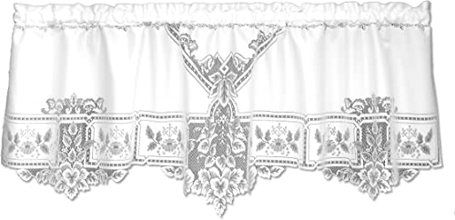 Heritage Lace Heirloom 60-Inch Wide by 22-Inch Drop Valance, White
