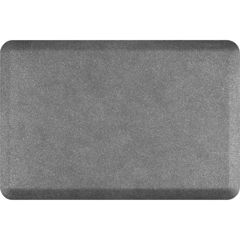 WellnessMats Anti-Fatigue 36 Inch by 24 Inch Granite Motif Kitchen Mat, Steel by WellnessMats