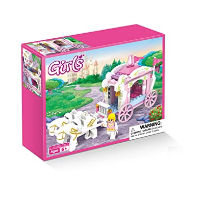 COGO Girls Princess Carriage Building Play Set Christmas Toys for Girls 98 Pieces - 3267: Toys & Games
