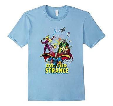 e34ac4601f2e Mens Marvel Doctor Strange Classic Comic Scene Graphic T-Shirt 2XL Baby Blue
