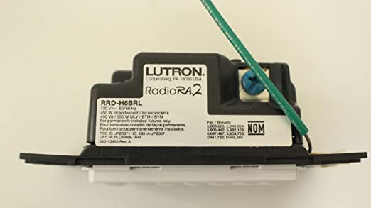 81eFSpPbnDL._SX522_ amazon com lutron (86900) rrd h6brl wh radiora 2 hybrid wall Lutron RRD at gsmx.co
