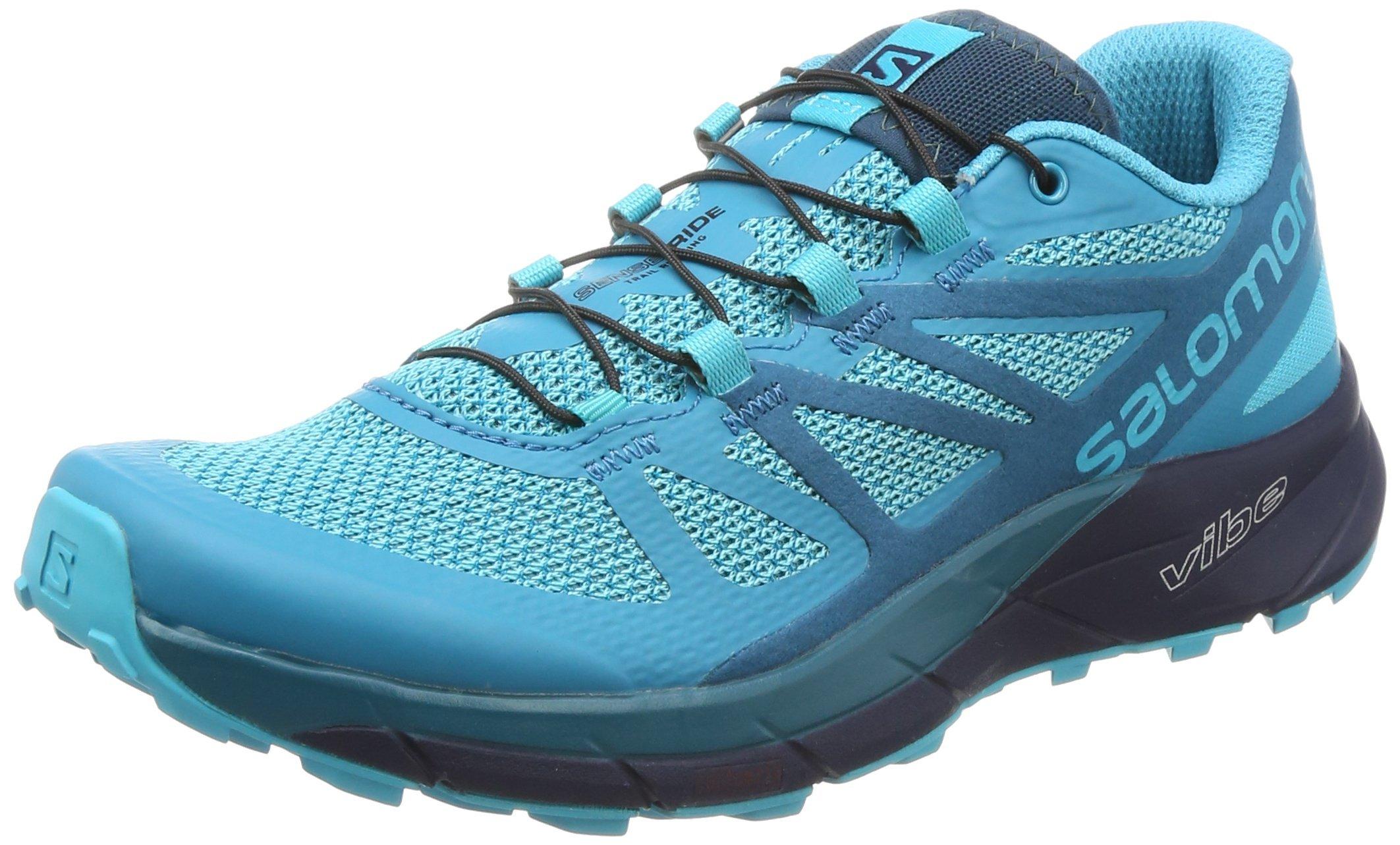 Salomon Women's Sense Ride Trail Running Shoes Blue Bird/Deep Lagoon/Navy Blazer 6