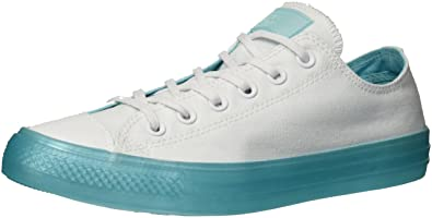 867e8d9fb422 Converse Women s Chuck Taylor All Star Candy Coated Low Top Sneaker  White Bleached Aqua 6