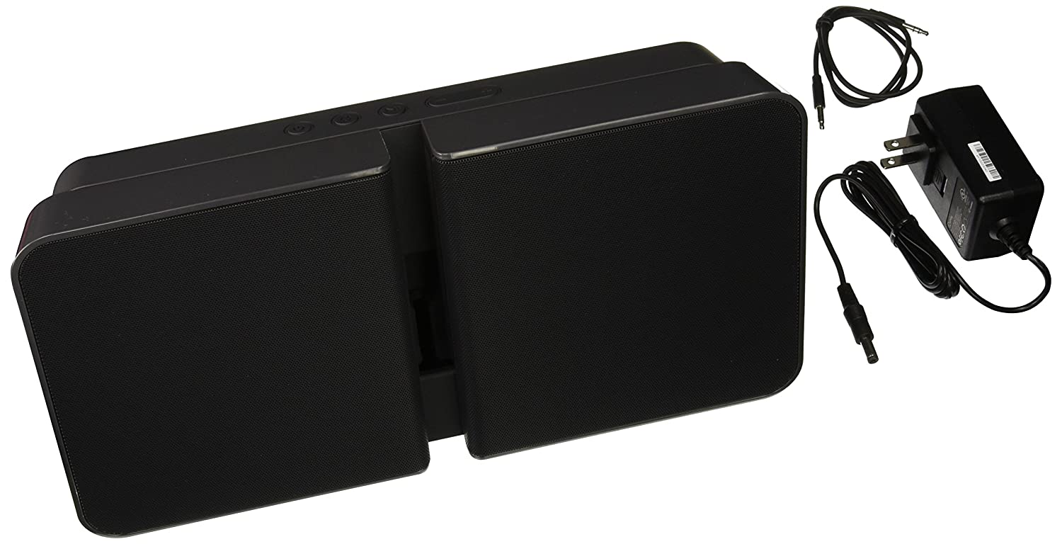 Quirky Wireless Portable Bluetooth Speaker with Charging Station, Beat Booster, Black Quirky Inc. PBEAT-BK01