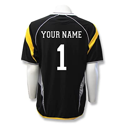 Columbus short-sleeve soccer goalkeeper jersey, personalized with your player name and number