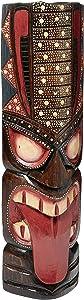 "FOREVER BAMBOO MASK20-1 Hawaiian Tiki Mask, 20"", Dot Art"