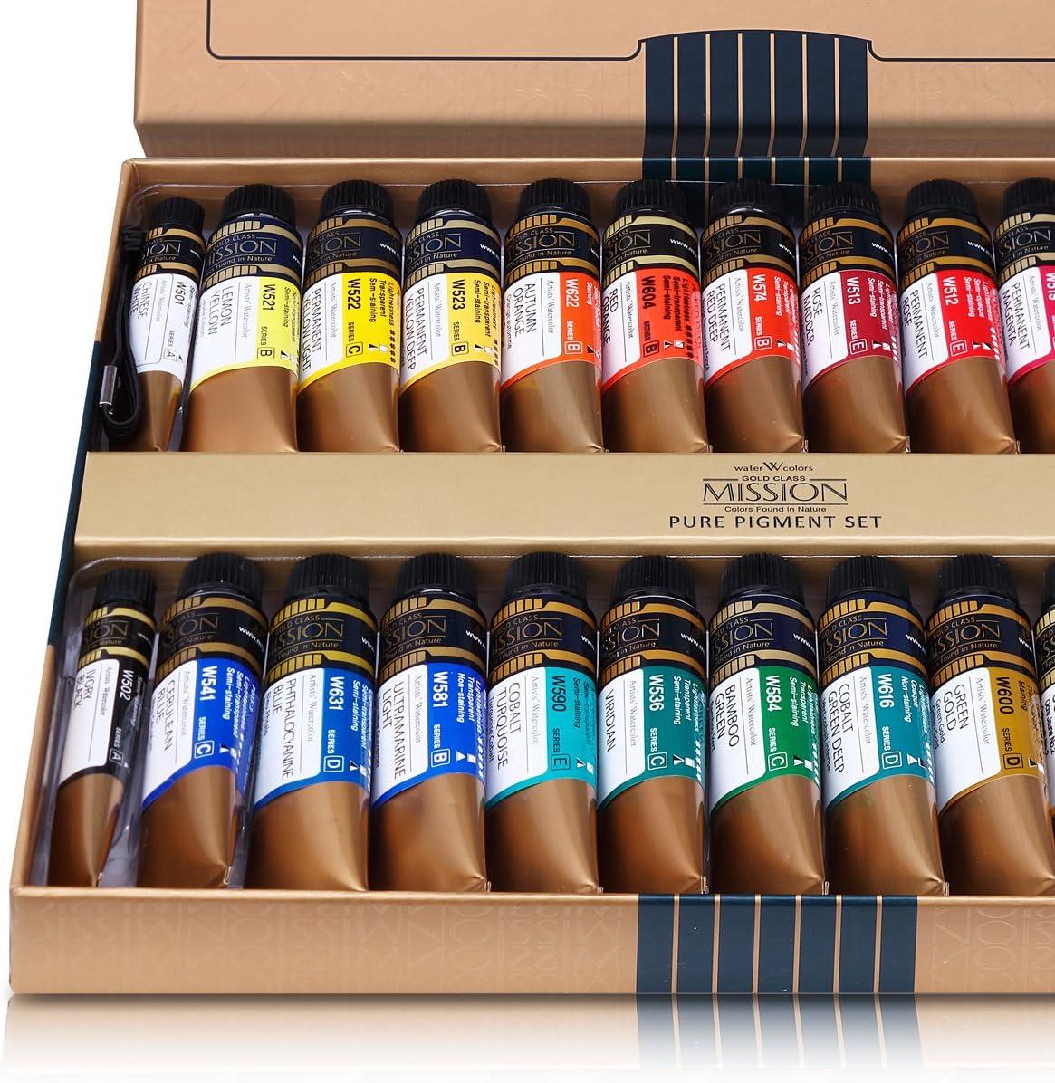 12 colores Mijello Pans Watercolor Set