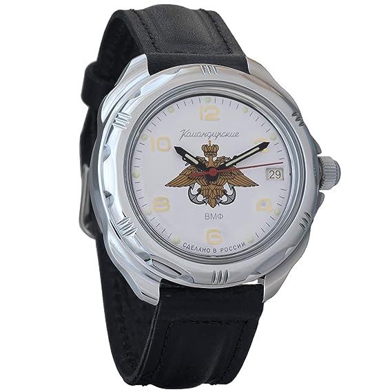 Vostok Komandirskie 2415 211829 Ruso Militar reloj mecánico