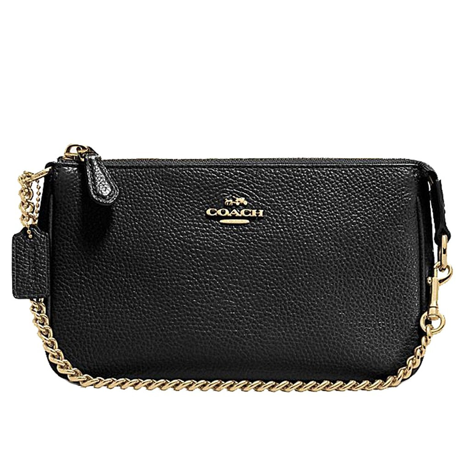 Coach Pebbled Leather Large...
