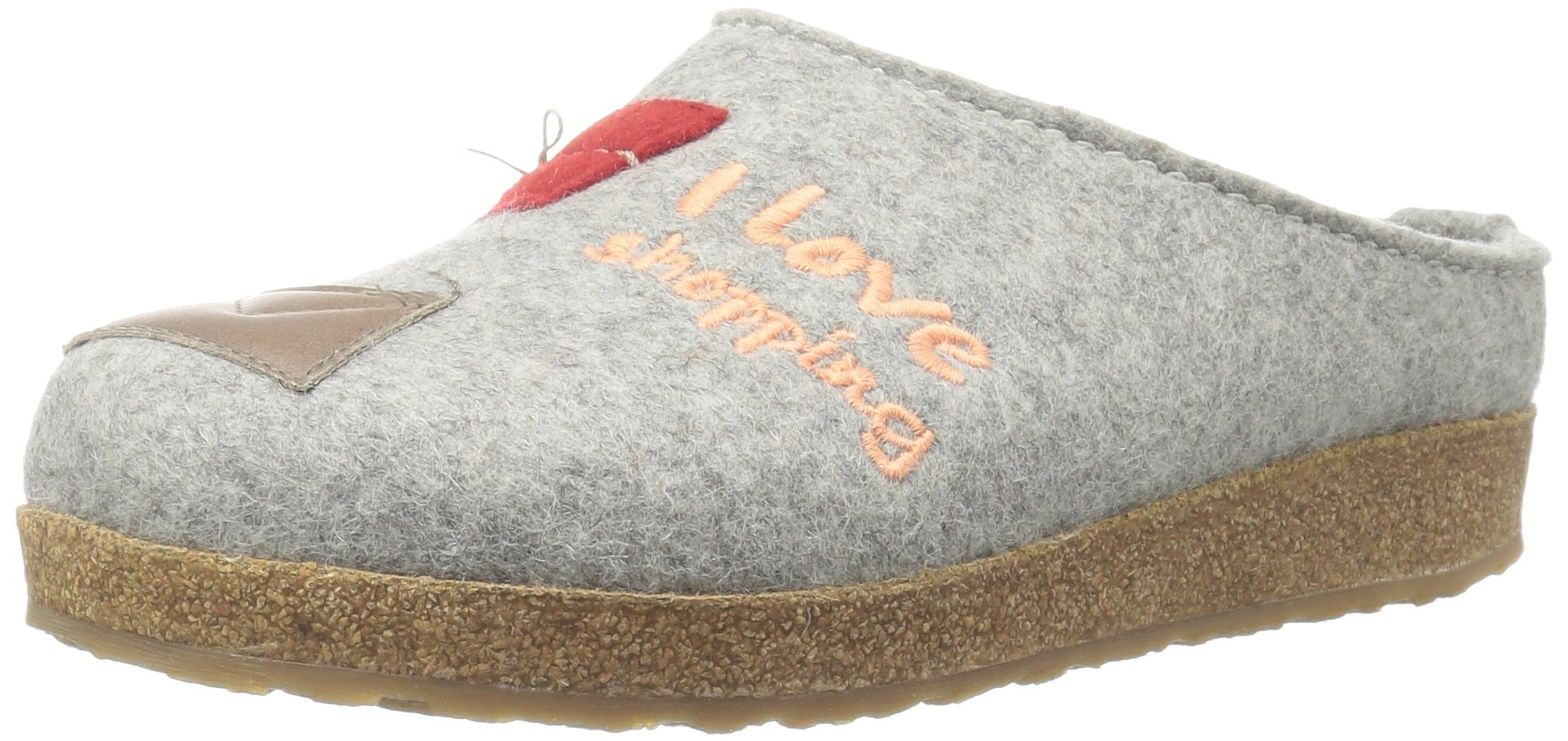 Haflinger Women's Gz Shopping Silver Gr Flat, Silver/Grey, 38 EU/7 M US