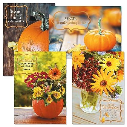 Amazon deluxe autumn florals thanksgiving greeting cards set deluxe autumn florals thanksgiving greeting cards set of 8 thanksgiving greeting cards m4hsunfo