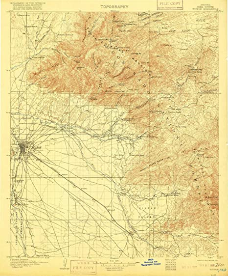 Az Topographic Map.Amazon Com Yellowmaps Tucson Az Topo Map 1 125000 Scale 30 X 30