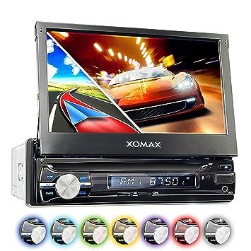 "XOMAX XM-VRSUN741BT Radio de coche con GPS I Bluetooth I 7""/ 18"