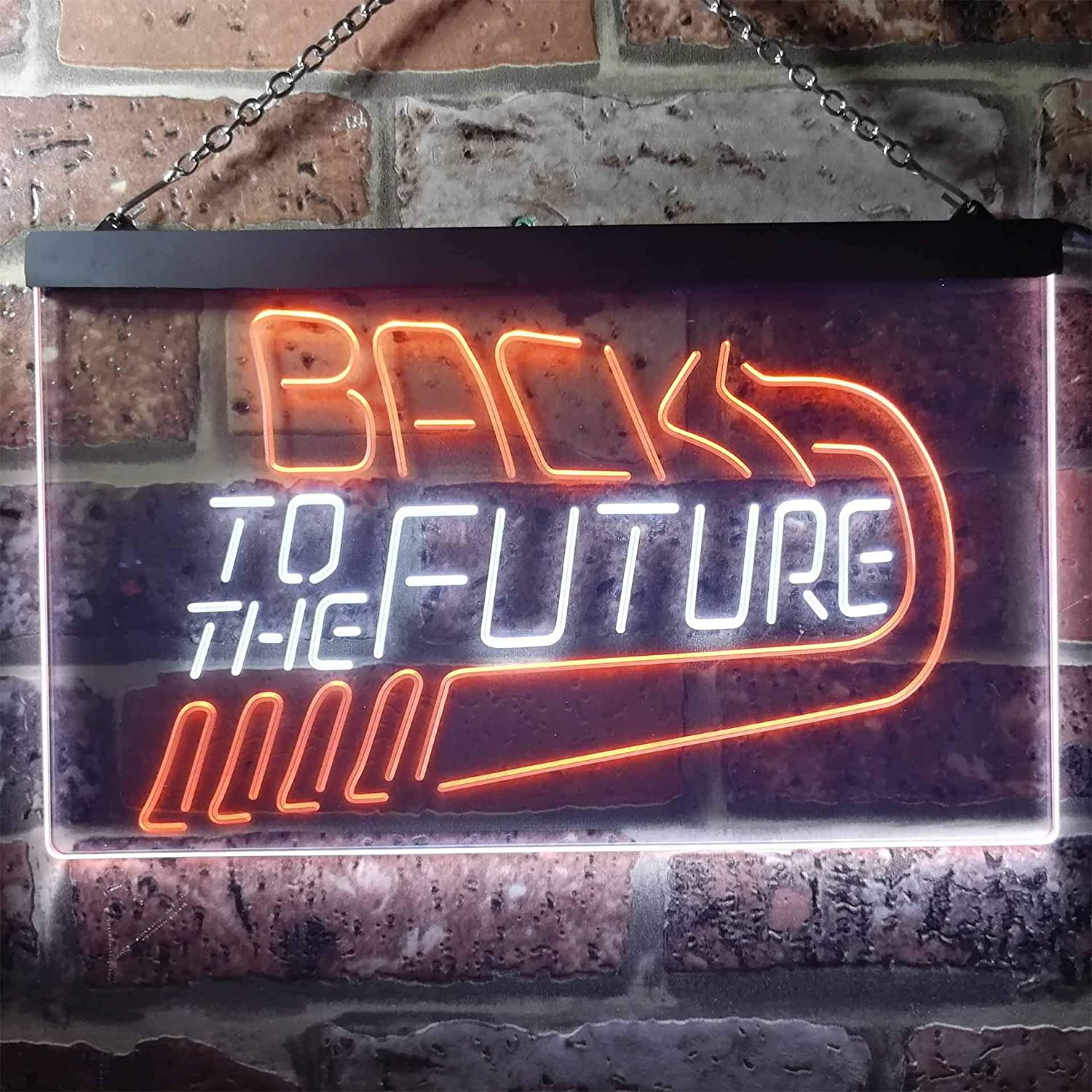 zusme Back to The Future Movie Home Theater Novelty LED Neon Sign Blue Red W30cm x H20cm