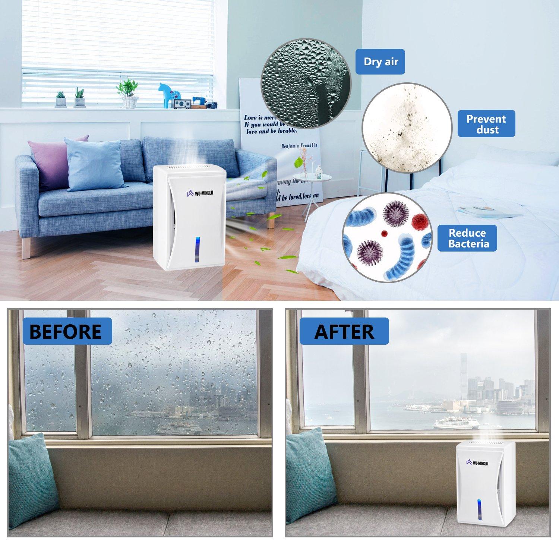 Wu de minglu Mini Deshumidificador, deshumidificador 600 ml losdeshumidificadores Air Dryer purificador de aire lufttrockner contra humedad, moho, ...