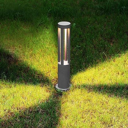 Lámpara Impermeable LED para césped, Lámpara LED para jardín, para Exteriores, para jardín Luz de césped, Vidrio Templado Cuerpo de Aluminio, lámpara de Aluminio, Paquete de 2,Gris: Amazon.es: Hogar