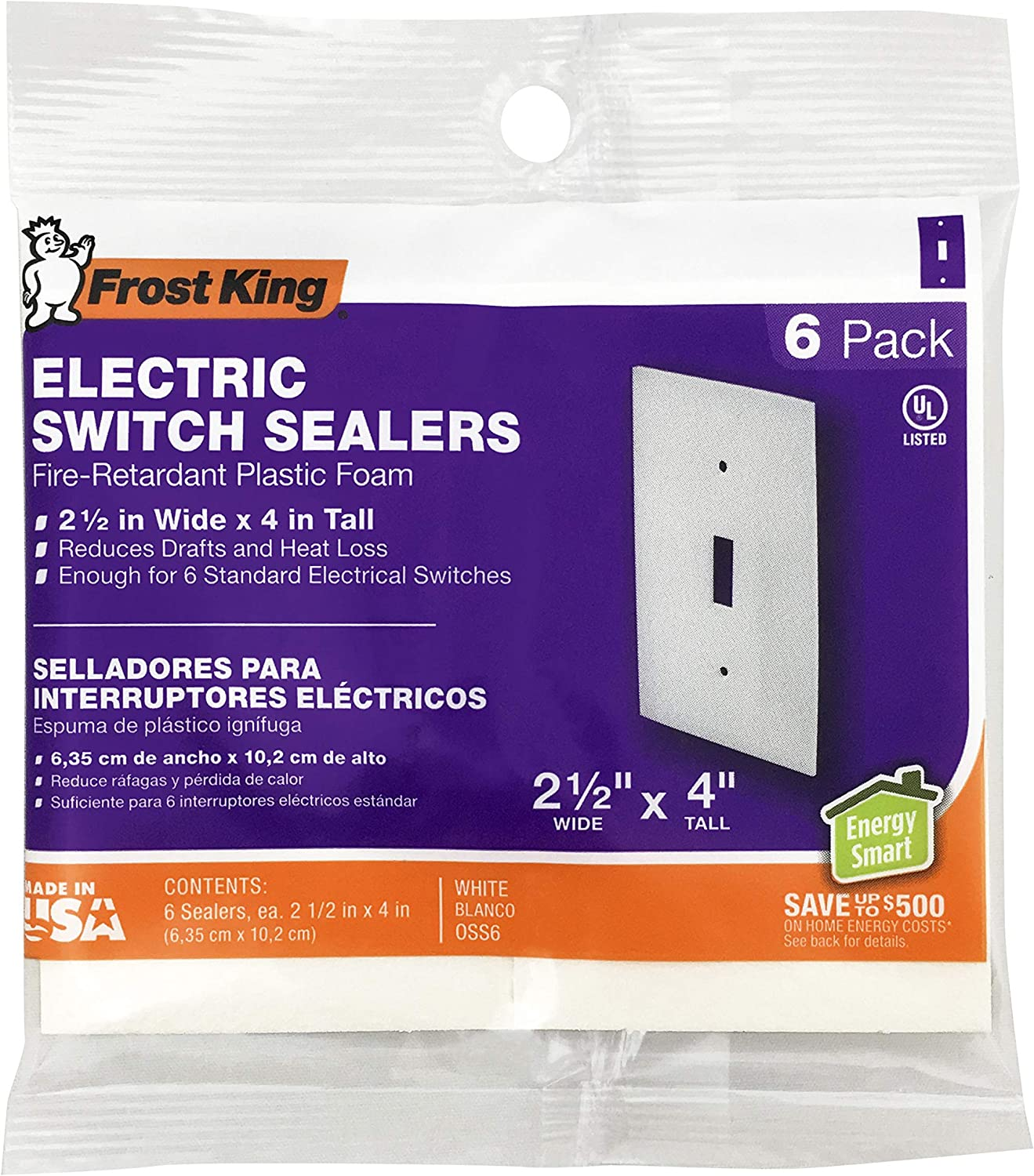Frost King OS6H Foam Outlet and Switch Sealer