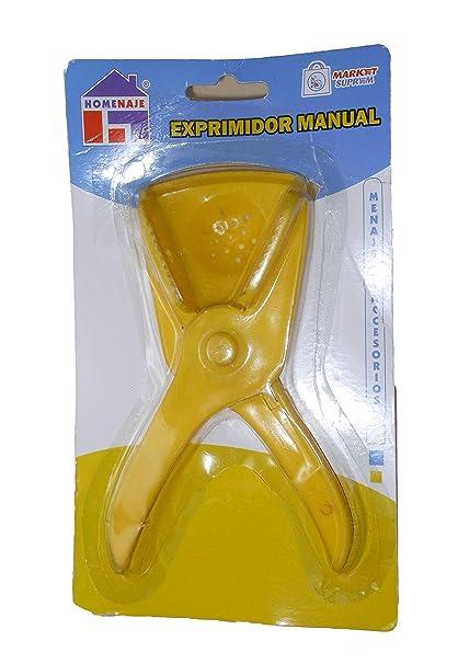 Homenaje exprimidor de cítricos Manual Extractor 100% Zumo sin Pepins Amarillo