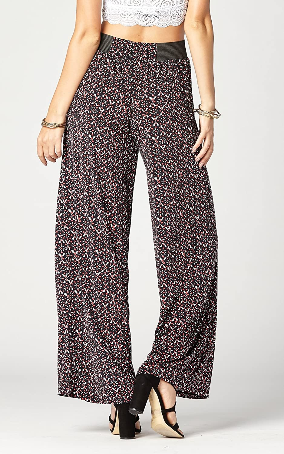 814933e9629 Premium Women s Palazzo Pants with Pockets - High Waist - Solid and Printed  Designs