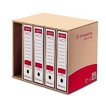 Pergamy 900662 - Contenedor de archivadores palanca: Amazon.es ...