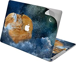 "Cavka Vinyl Decal Skin for Apple MacBook Pro 13"" 2019 15"" 2018 Air 13"" 2020 Retina 2015 Mac 11"" Mac 12"" Laptop Sticker Fox Night Protective Moon Classy Design Cute Cover Clouds Stars Print Animals"