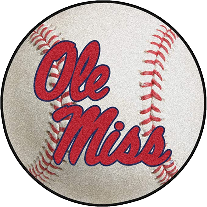 Fanmats University Of Mississippi Ole Miss Baseball Rug 27in Diameter Automotive