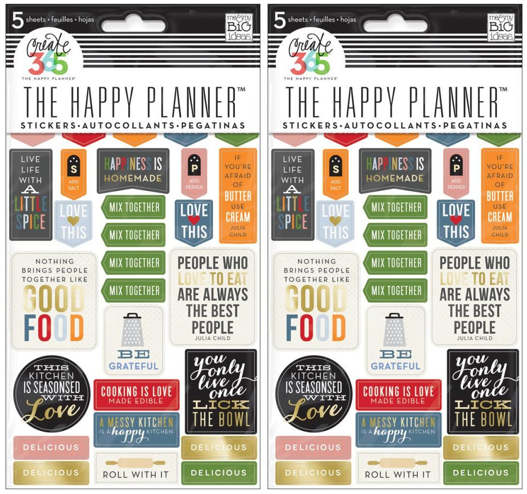 me & my BIG ideas Good Food Planner Stickers Me and My Big Ideas PPS-67