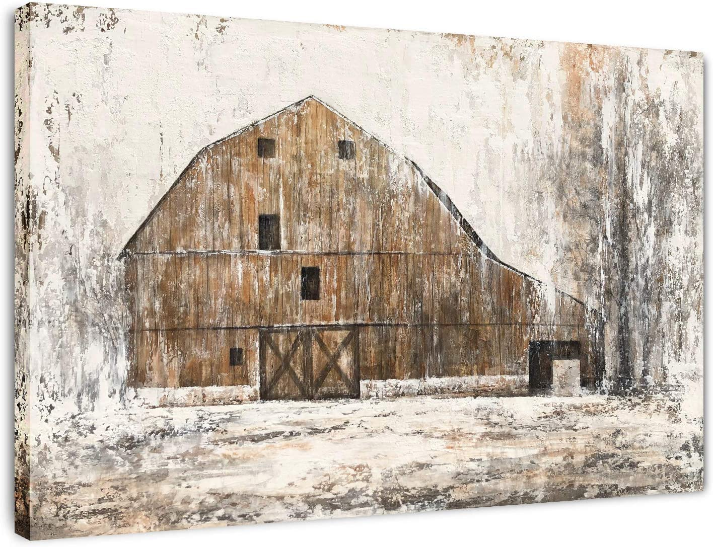Yihui Arts Farmhouse Rustic Wall Decor Canvas Wall Art Painting Pictures Hand Painted Artwork for Bedroom Bathroom (Multi B, 20Wx28L)